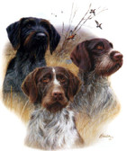 German Wirehaired Pointer T-shirt - Imprinted 3 German Wirehairs