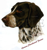 German Shorthaired Pointer T-shirt - Imprinted German Shorthair Head
