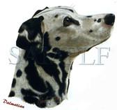Dalmatian T-shirt - Imprinted Dalmatian Head