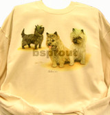 Cairn Terrier T-shirt - Imprinted Cairn Terrier Collage