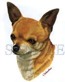 Chihuahua T-shirt - Imprinted Chihuahua Head