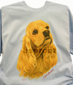 Cocker Spaniel T-shirt - Imprinted Cocker Spaniel Head