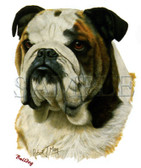 Bulldog T-shirt - Imprinted Bulldog Head