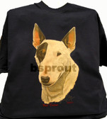 Bull Terrier T-shirt - Imprinted Bull Terrier Head