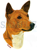 Basenji T-shirt - Imprinted Basenji Head