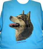 Alaskan Malamute T-shirt - Imprinted Alaskan Malamute Head