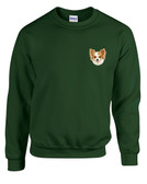 Chihuahua Crewneck Sweatshirt Personalized  - Embroidered Left Chest Fleece Crew