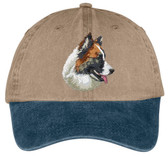 Icelandic Sheepdog Embroidered Cap