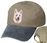 White Swiss Shepherd Personalized Hat