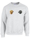 Black & Yellow Labrador Retriever Crewneck Sweatshirt Personalized  - Embroidered Left Chest Fleece Crew