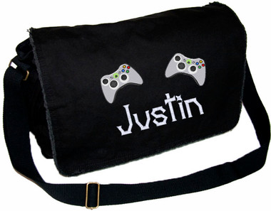 Video Game Personalized Diaper Bag Font shown on diaper bag is 20thcenturyfaux