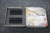 Bare Knuckle Aftermath 7 String Humbucker Pickups - Calibrated Black Bolts Open Set