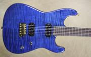Charvel USA San Dimas Custom Shop Trans Blue Flame Top Guitar
