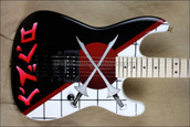 Charvel USA San Dimas Warren DeMartini Cross Swords Guitar