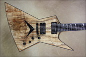 Dean USA Dave Mustaine Zero Spalted Maple Top NAMM 2013 Guitar
