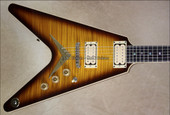 Dean USA Chicago Flame V Trans Brazilila Burst NAMM 2013 Guitar