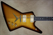 Dean USA Chicago Flame Z Trans Brazilila Burst NAMM 2013 Guitar