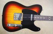 Fender Custom Shop Telecaster Tele '52 NOS 3 Tone Sunburst Rosewood Fretboard Guitar