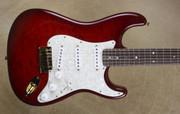 Fender Custom Shop Strat Custom Deluxe Stratocaster Trans Red Burst Gold Hardware Guitar