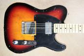 Fender Custom Shop Tele '52 Telecaster Nocaster HB Relic 3T Sunburst Guitar