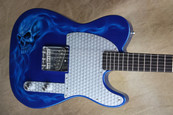 Fender Custom Shop NAMM 2010 Series '62 Esquire Blue Sparkle with Skull Flame Guitar