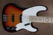 Fender Custom Shop 2011 NAMM Paul Waller Masterbuilt Double Pickup 2-Tone Sunburst Precision Bass Guitar