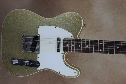 Fender Custom Shop 2011 NAMM Greg Fessler Masterbuilt '60 Telecaster Custom Relic Gold Sparkle Electric Guitar
