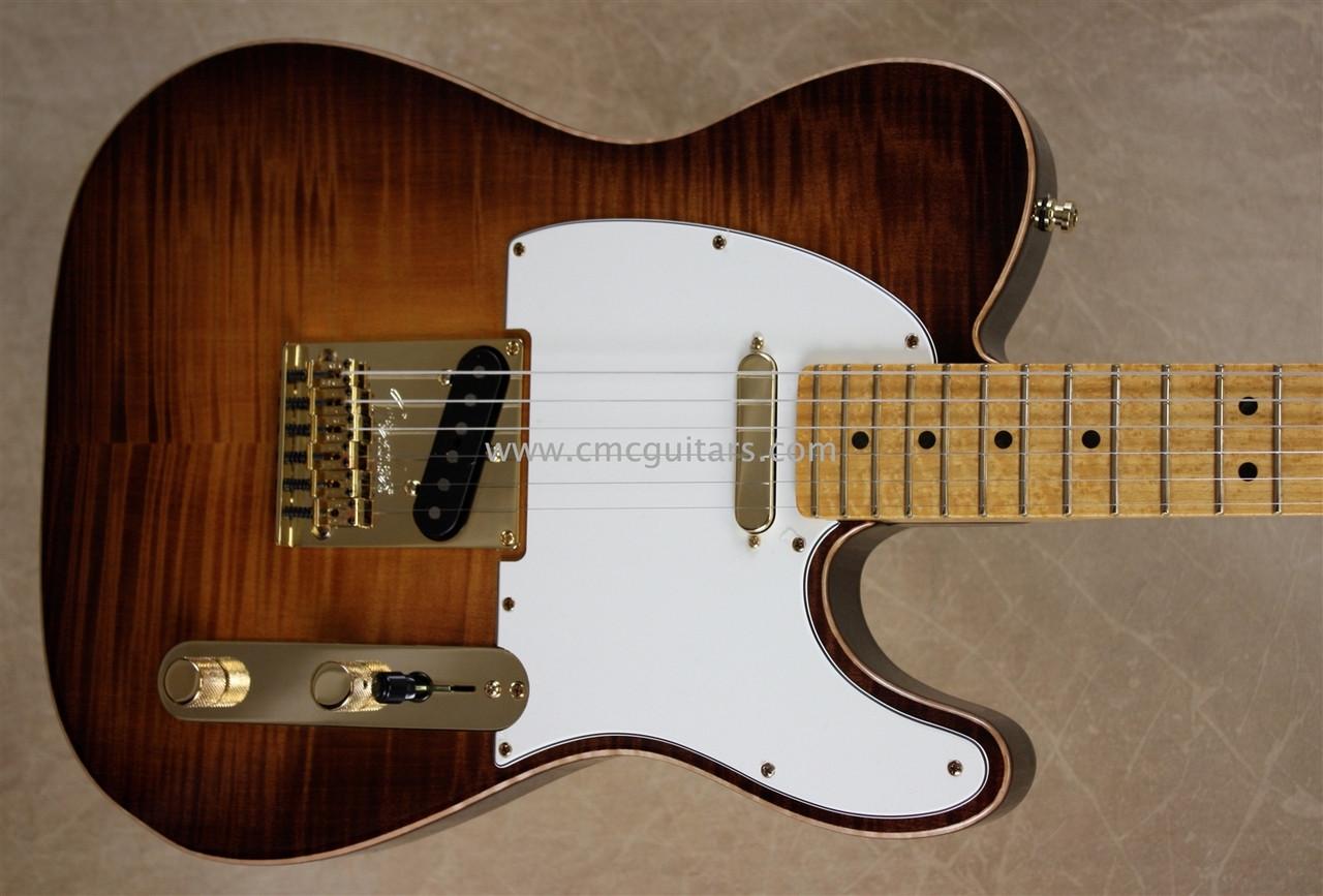 Fender Select Telecaster Tele Violin Burst Guitar Gold
