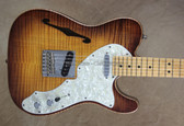 Fender Select 2013 Thinline Telecaster Tele Violin Burst Guitar Chrome Hardware