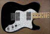 Fender Vintage 1972 Thinline Telecaster Black Tele Guitar