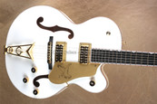 Gretsch G6136DS White Falcon Guitar w/ TV Jones Filtron Pickups