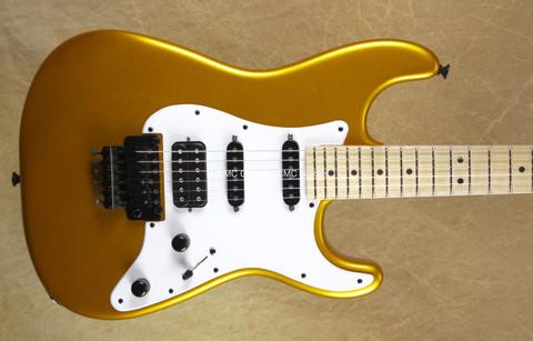 Jackson USA Adrian Smith Dinky San Dimas Gold with Maple Fretboard Guitar