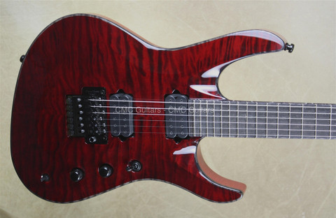 Jackson USA Chris Broderick Signature Trans Red Soloist 6 String Guitar