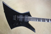 Jackson USA Custom Shop KE2 Kelly Satin Black Reverse Inlay Guitar