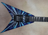 Jackson USA Custom Shop 2011 NAMM King V Engraved Metal Top Electric Guitar
