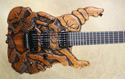Jackson Custom Shop USA SL2H Mike Learn Carved Skulls Guitar