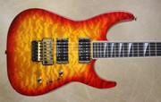Jackson USA Custom Shop SL2H-MAHQ Soloist Burnt Cherry Burst Maple Neck Guitar
