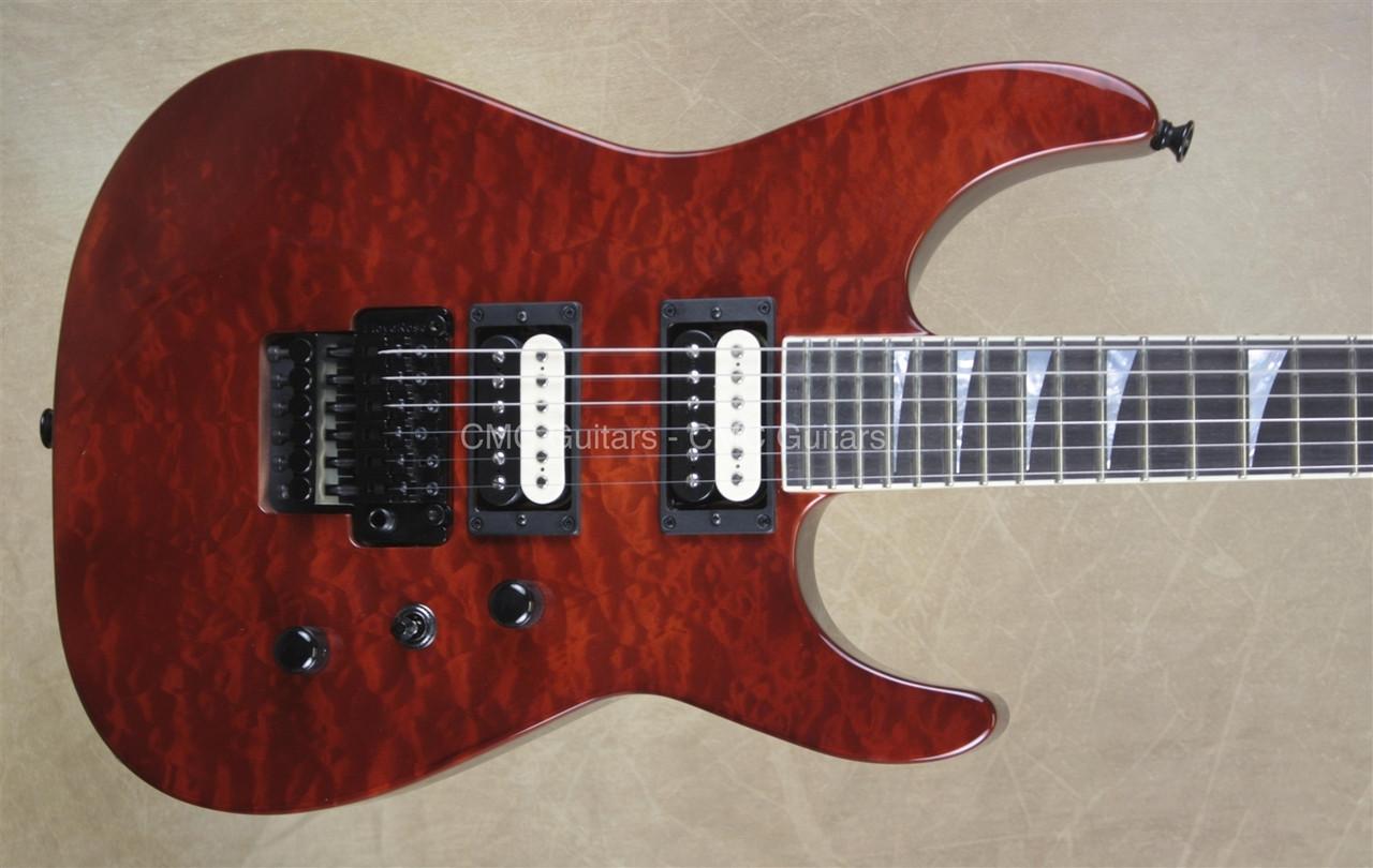 jackson usa custom shop sl2h soloist trans root beer guitar with evh