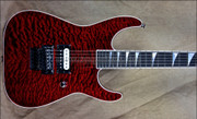 Jackson Custom Shop USA Trans Red 1 Hum Soloist Electric Guitar