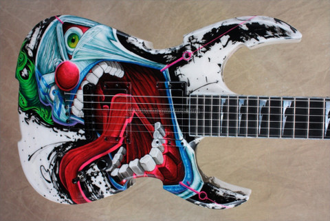 Jackson USA Custom Shop 2011 NAMM Extreme Soloist 3-D Evil Clown Electric Guitar