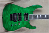Jackson USA SL2H-MAH Transparent Green Soloist Electric Guitar