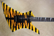 Jackson USA Select Series KE2 Kelly Black Bengal Yellow Guitar