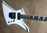 Jackson USA Select Series KE2 Kelly Snow White with Black Bevels Electric Guitar