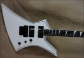 Jackson USA Select Series KE2 Kelly Snow White Black Pinstripes Guitar