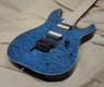McNaught DJ+ Series Peacock Blue Diamond Quilt Top Electric Guitar
