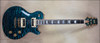 McNaught DTM Vintage Single Cut Peacock Blue Diamond Quilt Top Guitar
