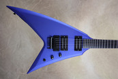 Washburn Custom Shop WV546 Satin Majik Blue Flying V Electric Guitar