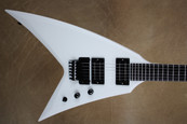 Washburn Custom Shop WV546 Satin Snow White Flying V Electric Guitar