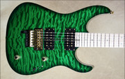 McNaught DJ+ Series Emerald Green Diamond Quilt Top Electric Guitar