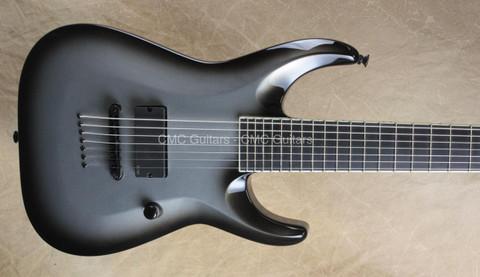 Jackson Custom Shop USA SLAT-7 Soloist Silver Burst COW 7 String Guitar
